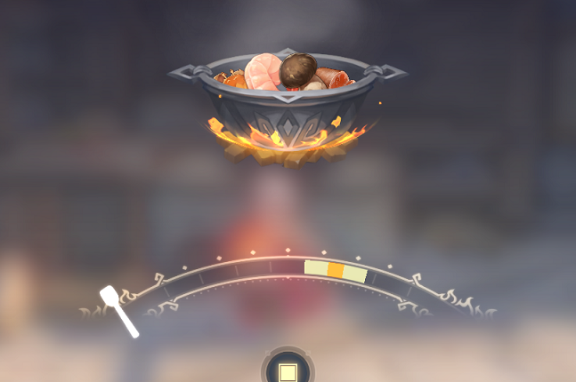 原神の星5料理の調理画面