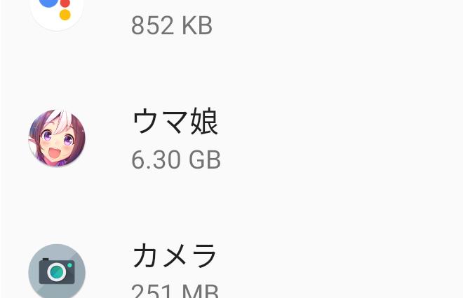 ウマ娘スマホ版のアプリ容量